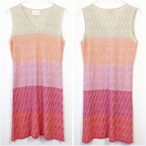 Skies Are Blue Knit Color Block Ombre Dress L